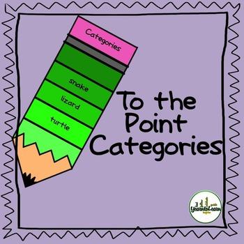 Categories Vocabulary Building Task Cards