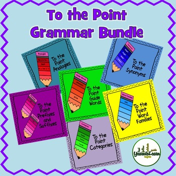 Grammar Bundle To the Point Task Cards