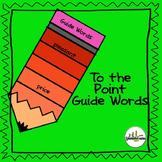 Guide Words To the Point Task Cards