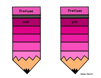 Prefixes and Suffixes To the Point Task Cards