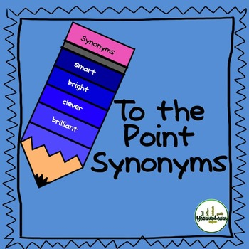 Synonyms Vocabulary Building Task Cards