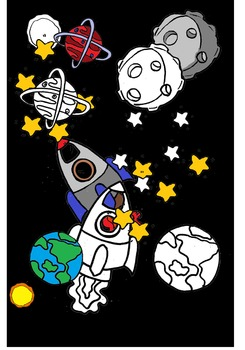 (super discount) To the moon -space clip art