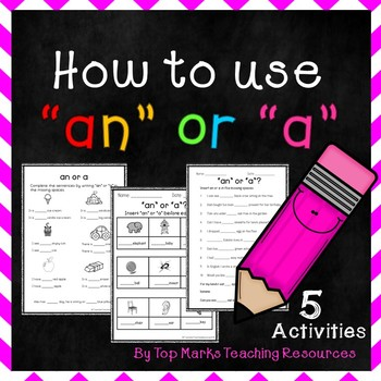 Writing To use 'an' and 'a' before a noun