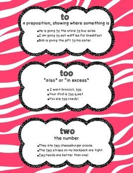 To/Too/Two Poster - Animal Print