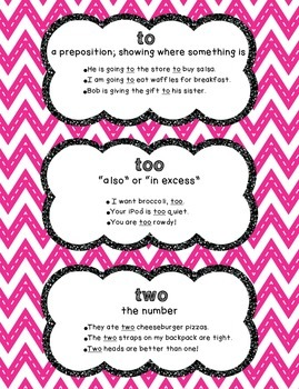 To/Too/Two Poster - Chevron