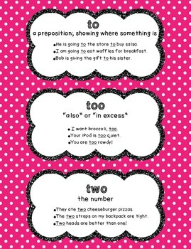 To/Too/Two Poster - Polka Dots
