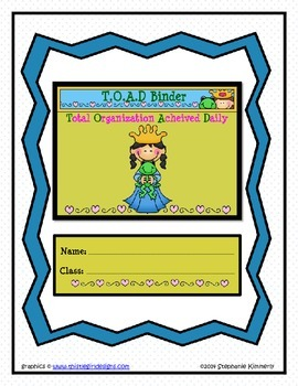 Toad {Royal-Castle} Binder Cover