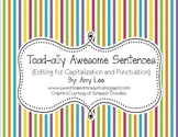 """""""Toad-ally"""" Awesome Sentences (Sentence Editing)"""