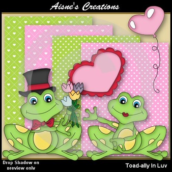 Toad-ally In Luv Clip Art Graphics