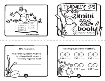 Toadally 2's - Multiply by 2 Mini Book