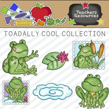 Toadally Cool Clipart Collection    Commercial Use Allowed