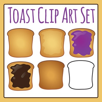 Toast and Spreads Clip Art for Commercial Use