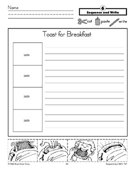 Toast for Breakfast (Sequence and Write)