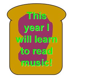 Toast for a New Year Music Bulletin Board