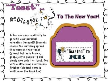 """""""Toast"""" to 2013 A Common Core Mini-Unit Including ELA and Math!"""