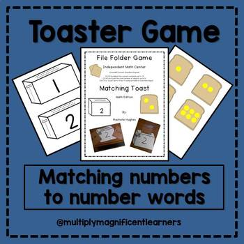Toaster Game- Numbers/Number Words