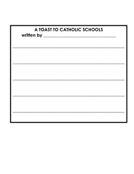 Toasting Catholic Schools!  Catholic Schools' Week Activity!