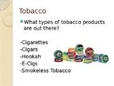 Tobacco Awareness PowerPoint & Worksheet