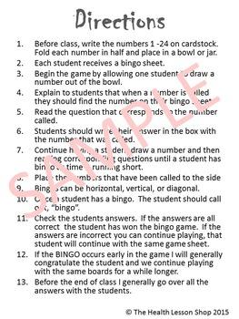 Tobacco Bingo Game
