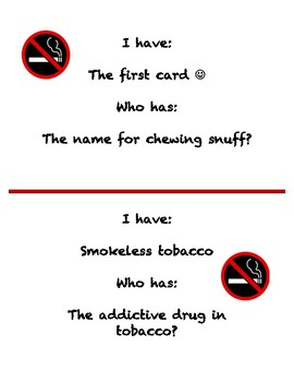 Tobacco I Have Who Has