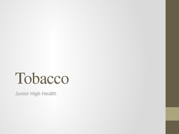 Tobacco Powerpoint
