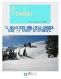 "Tobias Wolff's ""Powder"" Multiple-Choice Quiz"