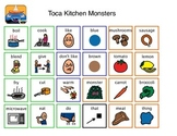 Toca Boca Kitchen Monsters Communication Board for iPad