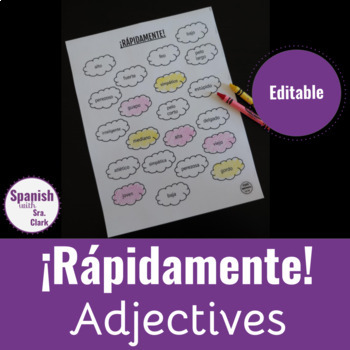 Toca La Palabra Game: Adjectives