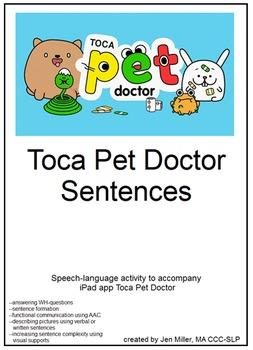 Toca Pet Doctor speech-language companion activity