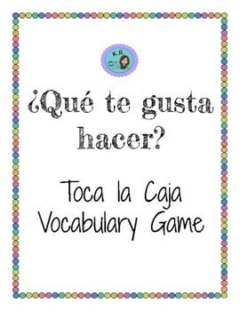 Toca la Caja- Vocabulary Game Ca. 1A