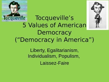 Tocqueville Notes- Good for STAAR