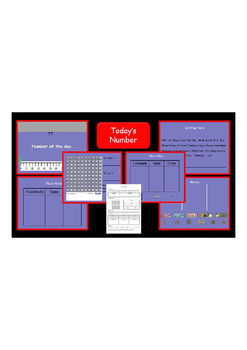 Today/Daily Number Smart notebook and worksheet 0 - 100