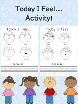 Today I Feel Activity! (No Prep, Just Print!)