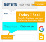 Today I Feel... - Social Emotional Learning / Reflection Activity in Slides