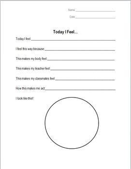 Today I Feel... Worksheet