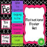 BE Growth Mindset and Motivational Inspirational Bulletin Board Classroom Decor