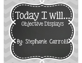 Today I will Objective Posters