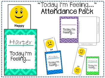 """Today I'm Feeling..."" Attendance Pack"