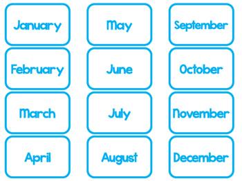 Blue Today Is....Mat, Cards, Labels. Preschool-Kindergarten Circle Time.