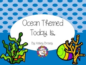Today Is...Ocean Themed Poster