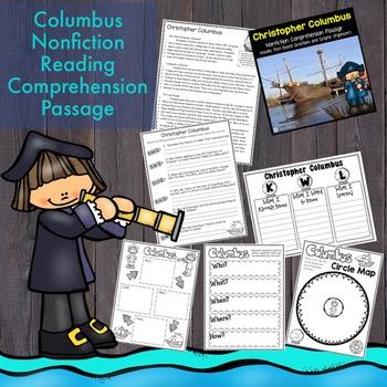 Columbus Reading Passage Nonfiction Text & Questions