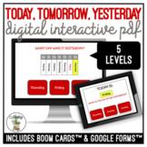 Today, Tomorrow, & Yesterday Calendar Digital Interactive Activity