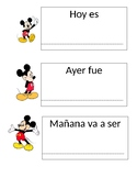 Today Tomorrow Yesterday Mickey Spanish Version