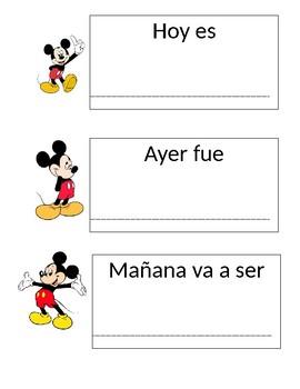 Today Tomorrow Yesterday Mickey Spanish Version