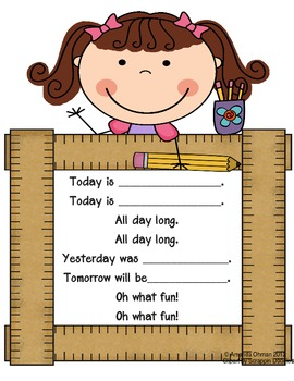 Today Yesterday Tomorrow Days of the Week Song