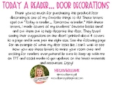 Today a Reader... Tomorrow a Leader Door Decorations