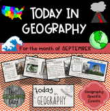 Today in Geography - September Edition