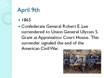 Today in History Bell Ringer - April