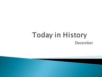 Today in History Bell Ringer - December