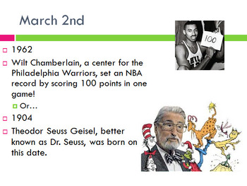 Today in History Bell Ringer - March